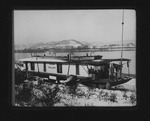 """Houseboat """"Ohio Valley,"""" at foot of 9th St., Huntington, ca 1906"""