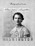 Jane Shepherd (Hobson) 1937 passport photo