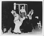 Jane Shepherd (Hobson) & other opera stars at Mozart opera, ca. 1950's