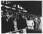 Pres. Franklin Delano Roosevelt at baseball opening day, 1938