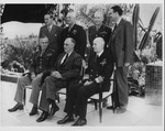 Franklin Delano Roosevelt and U.S. officers at the Casablanca conference, 1943