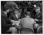 Franklin Delano Roosevelt and U.S. officers at French Morocco, Jan. 21, 1942
