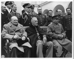 Franklin Delano Roosevelt, Winston Churchill & Joseph Stalin at the Yalta Conference, Feb. 9, 1945
