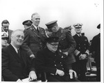 Franklin Delano Roosevelt and Winston Churchill at the Argentin Conference, Aug. 1941
