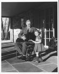 Franklin Delano Roosevelt and Ruthie Bie at Top Cottage, Feb. 1941