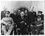 Stalin, Franklin Delano Roosevelt and Winston Churchill at the Teheran, Conference, Nov. 8, 1943