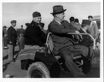 Franklin Delano Roosevelt and Dwight Eisenhower at Castelvetrano, Sicily, Dec. 8, 1943
