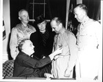 Franklin Delano Roosevelt awarding Medal of Honor to Gen. Jimmy Doolittle, May 19, 1942