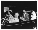 Franklin Delano Roosevelt driving King George VI and Queen to Top Cottage, June 11, 1939