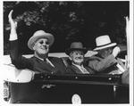 Franklin Delano Roosevelt, David Lewis & Md. Governor Harry Nice in Maryland, Sept. 4, 1938