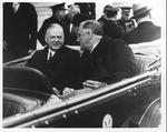 Franklin Delano Roosevelt with with President Herbert Hoover, mar. 4, 1933