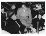 Franklin Delano Roosevelt with Errol Flynn, Ft Myers, Fla. Horse Show, Jan. 25, 1939
