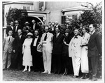 Franklin Delano Roosevelt and friends when notified of the VP nomination, Aug. 9, 1920