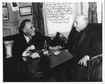 Franklin Delano Roosevelt with George Cardinal Mundelein, Archbishop of Chicago, Nov. 19, 1932