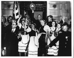 Franklin Delano Roosevelt with League of Foreign-born Citizens, Nov. 5, 1932