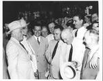 Franklin Delano Roosevelt with Gov. James V. Allred at Amarillo, Tex., July 11, 1938