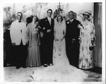 Franklin Delano Roosevelt & Eleanor at wedding of Franklin Delano Roosevelt, Jr. to Ethel DuPont, June 30, 1937