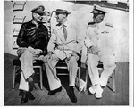 Franklin Delano Roosevelt and Gen. Douglas MacArthur at Pearl Harbor, July 26, 1944
