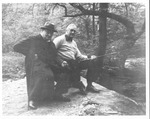 Franklin Delano Roosevelt and Winston Churchill fishing at Shangri La, May 16, 1942