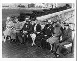 Franklin Delano Roosevelt, Eleanor, Winston Churchill at the Quebec II Conference, Sept. 12, 1944