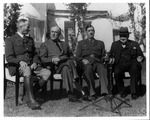 Franklin Delano Roosevelt, Churchill, and Charles DeGaulle at the Casablanca conference, 1943