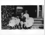 Franklin Delano Roosevelt and Eleanor with children Elliott, James, and Anna at Campo, 1912