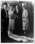 Franklin Delano Roosevelt and Eleanor at Anna's wedding to Curtiss Dall, June 1926