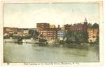 Steamboat landing on Kanawha river, Charleston, W.Va.,1908