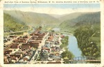 Birds-eye view, Williamson, W.Va. showing Tug River, bounday with Ky.,ca.1920