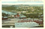 Birds-eye view from Observatory Hill, Morgantown, W.Va