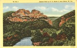 Seneca Rocks on US Route 5, near Elkins,W.Va.