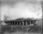 Railroad trestle under construction, ca. 1900