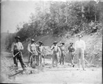 Railroad construction crew, ca. 1900