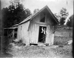 Railroad engineer's cabin, ca. 1900