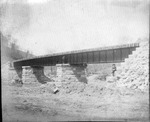 Railroad steel deck bridge under construction ca. 1900