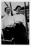 Mrs. M.S. Woodyard and Miss Berta L. Swann, daughters of Ben F. Swann