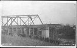 Destroyed C&O RR bridge, Guyandotte, W.Va.