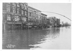 1913 flood, 3rd Ave between 8 & 7th STreets, Huntington by Thomas Photo