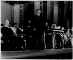 D.W. Morrow, Ambassador to Mexico addressing Grads Marshall College at Keith Albee Theater, 1928 or 1929
