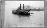 Cincinnati & Wheeling steam packet boat Hudson, ca. 1900