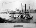 View of steam towboat Bob Prichard on the Kanawha River, Aug. 1894