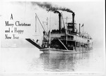 Photo Christas card showing steamboat Rees Lee