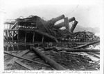 Steamboat wreck of the Morning Star & Island Queen, Cincinnati, 1922,