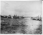 Towboats pushing log rafts, ca. 1900