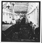 Unidentified steamboat interior, ca. 1900