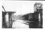 Destroyed C&O RR bridge, Guyandotte, W.Va., 1913