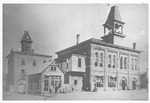 Huntington's first courthouse & jail