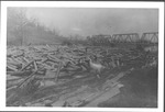 Log jam on Guyandotte River, Guyandotte, W.Va.