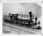 Railroad steam engine ca 1870