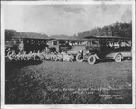 School busses at Guyan Valley High School, Branchland, W.Va.